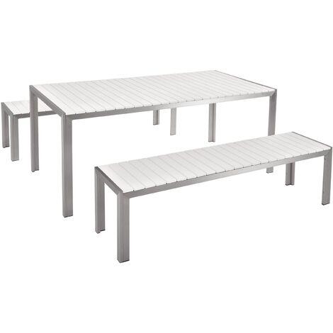 Conjunto de jardín en aluminio blanco NARDO