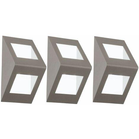 Conjunto de la pared del LED 3 se ilumina bombillas centro de atención de la trama de Down iluminación al aire libre