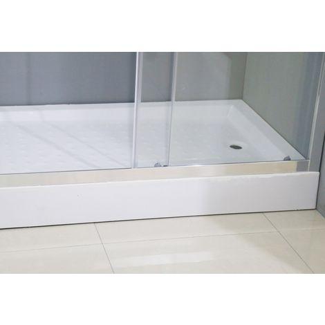 Conjunto de Mampara de Ducha angular + Plato 120x80cm