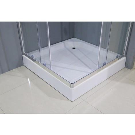 Conjunto de Mampara de Ducha esquinera + Plato 90x90cm