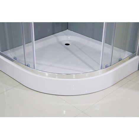 Conjunto de Mampara de Ducha semicircular + Plato 90x90cm