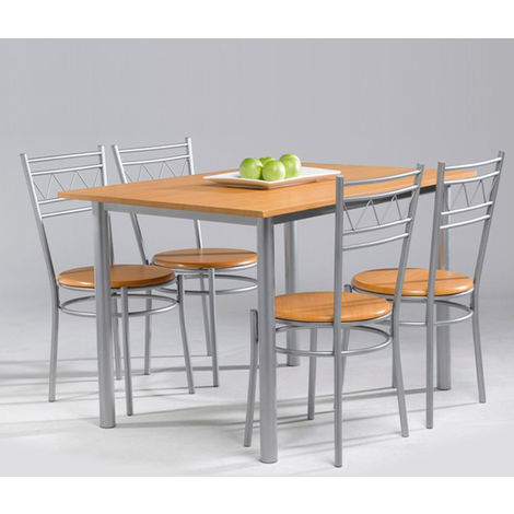 Conjunto de mesa de terraza/cocina + 4 sillas