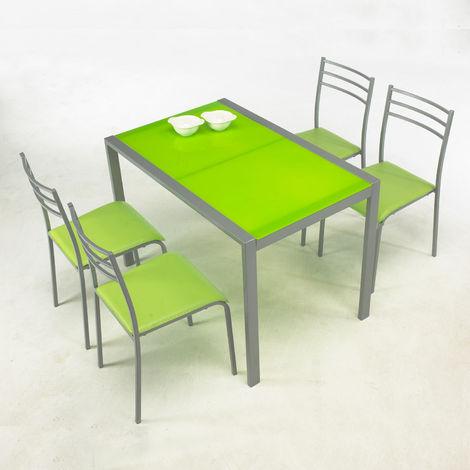 """Conjunto de mesa y 4 sillas """"alfa """""""