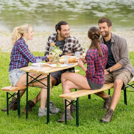conjunto de mesa y bancos de pícnic