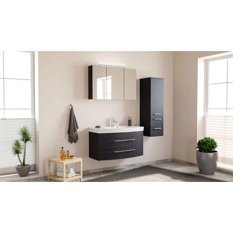 Conjunto de mueble de baño Toscana 100 3 Partes Antracita satinado