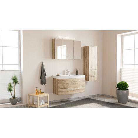 Conjunto de mueble de baño Toscana 100 3 Partes Roble claro