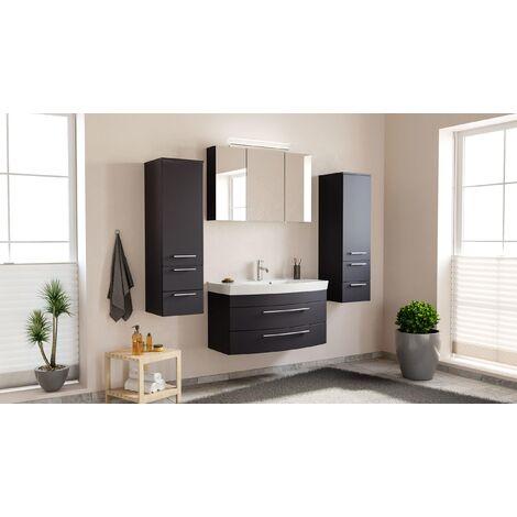 Conjunto de mueble de baño Toscana 100 4 Partes Antracita satinado