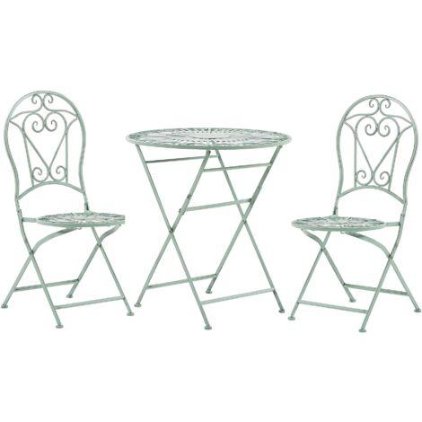 Conjunto de muebles de balcón verde TRENTO