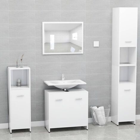 Conjunto de muebles de baño aglomerado blanco