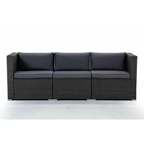 Conjunto de Muebles De Exterior Para Jardín o Terraza Sofa Modular 3 Plazas Color Beige