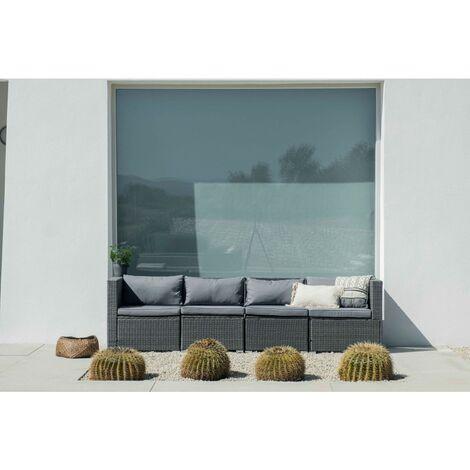 Conjunto de Muebles De Exterior Para Jardín o Terraza Sofa Modular 4 Plazas Color Gris