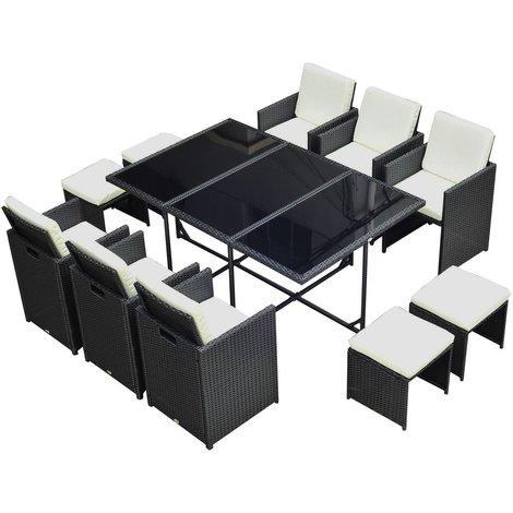 Conjunto de Muebles de exterior tipo Comedor para Jardín y Terraza ...