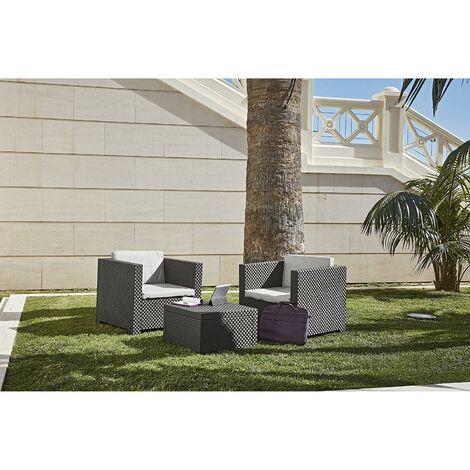 Conjunto de muebles de jardín Diva Tete Antracita