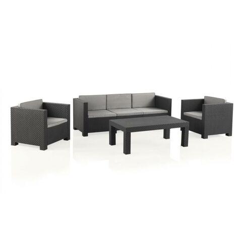 Conjunto de muebles de jardín Diva Tropea Antracita