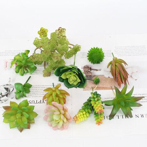 Conjunto de plantas suculentas artificiales, plantas realistas de bricolaje