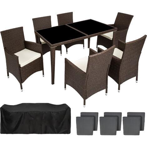 Conjunto De Sillas De Ratán Y Aluminio 6 1 Mueble De