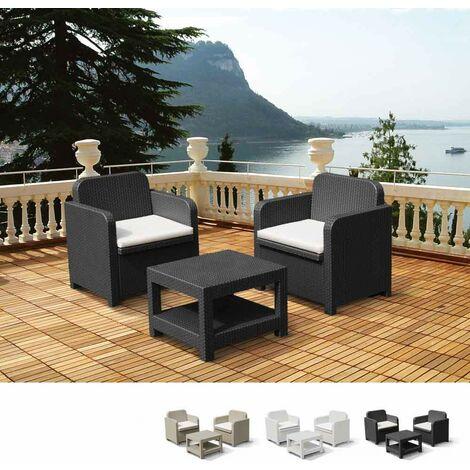 Conjunto de sillones para exterior Grand Soleil Giglio bar mimbre 2 plazas