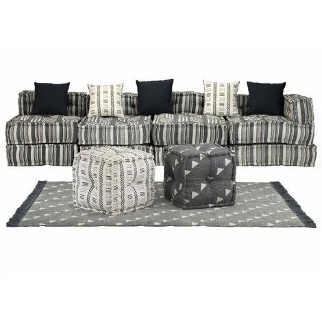 Conjunto de sofá modular 16 piezas tela de rayas