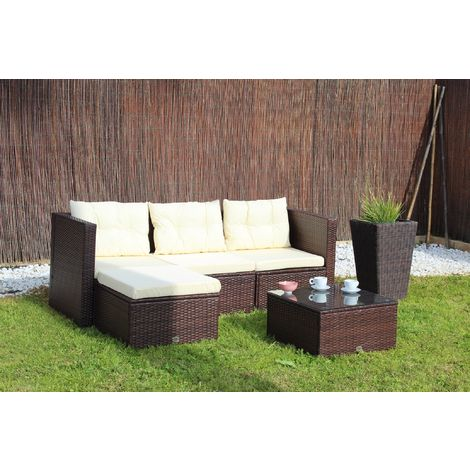 Conjunto de sofá modular San Francisco color marrón