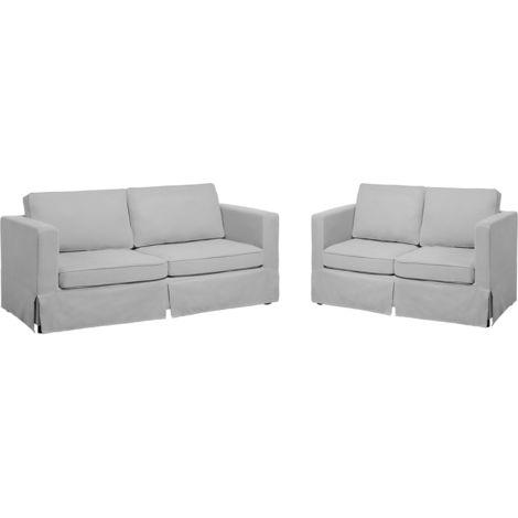 Conjunto de sofás tapizados gris claro HOLMEN