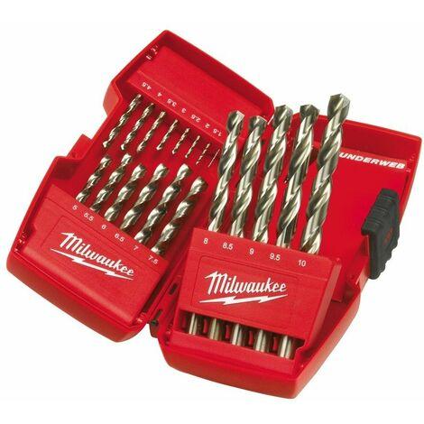 Conjunto de THUNDERWEB 19 brocas HSS-G de metal MILWAUKEE 4932352374
