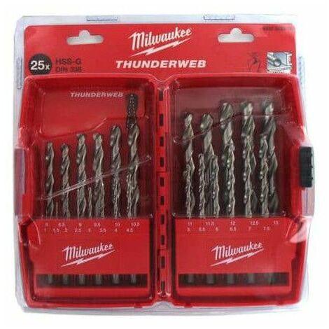 Conjunto de THUNDERWEB 25 brocas HSS-G de metal MILWAUKEE 4932352376