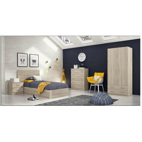 Conjunto dormitorio juvenil cambrian de 90 cm. Color Cambrian