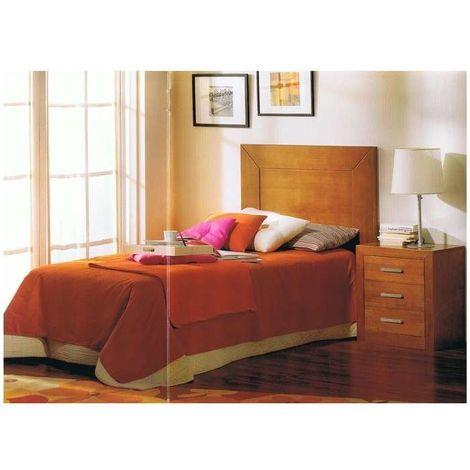 Conjunto dormitorio juvenil madera maciza en acabado madera natural Color Cerezo