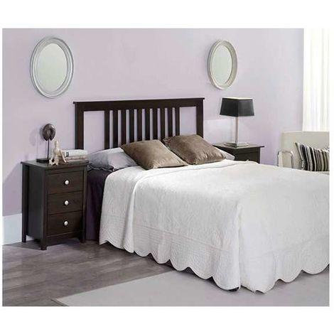 Conjunto Dormitorio Pino incluye un cabecero 2 mesitas Modelo Tabac I Color Wengué
