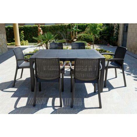 Conjunto Elegance de mesa + 6 sillas - talla