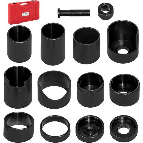 Conjunto extractor propelente - extractores de cojinetes para taller, herramientas extractoras para casquillos, kit de herramientas de acero para extraer rótulas coche - negro