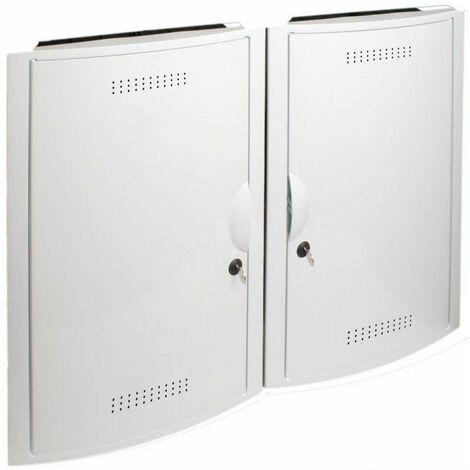 Conjunto ICT empotrar 2 registros + 2 bases + cerradura + marco blanco SOLERA 5504/2L