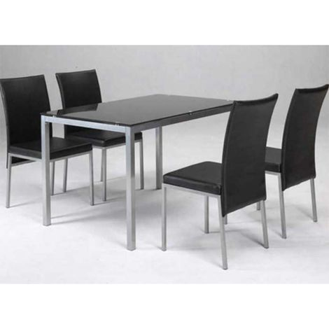 Conjunto mesa y 4 sillas salon o comedor varios colores