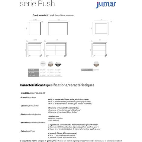 """main image of """"Conjunto de baño Push Blanco"""""""