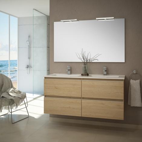 Conjunto Mueble de Baño 4 cajones color Bambu 120cm