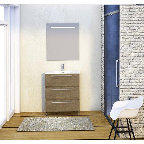 Conjunto mueble de baño - Mueble Lavabo Espejo - 70x39x83
