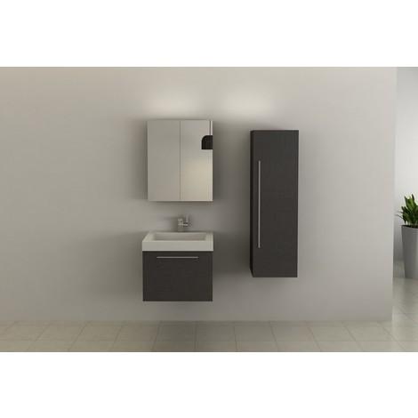 Conjunto mueble de baño suspendido 600cm modelo AB-002