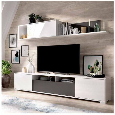 Conjunto mueble salon television con puertas y estante Ken
