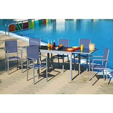 Conjunto Muebles Aluminio 7 Piezas - NEOFERR - Pg0394..