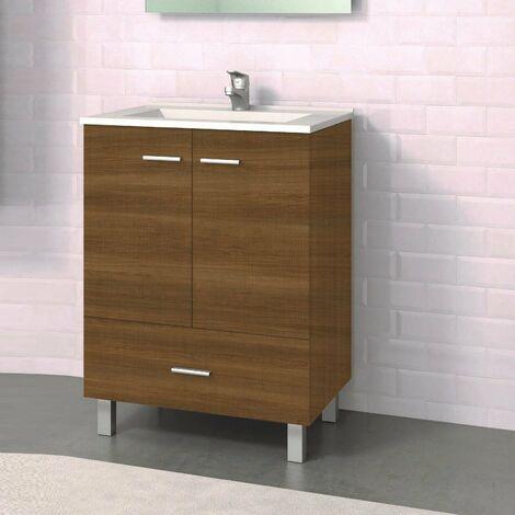 Conjunto RAKI, Mueble de lavabo 60cm y espejo