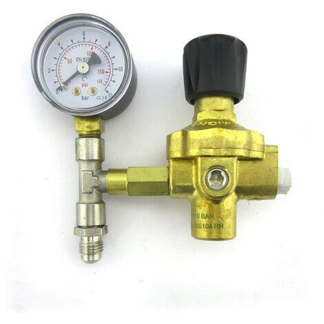 Conjunto reductor de presión 10 bar con manómetro