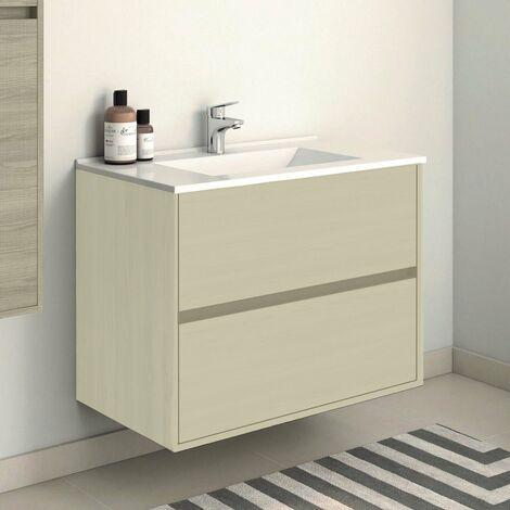 Conjunto SADO, Mueble de lavabo 80cm, espejo y columna