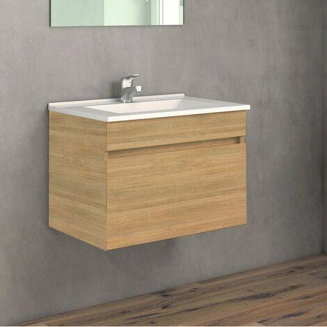 Conjunto SOKI, Mueble de lavabo 60cm, espejo y columna