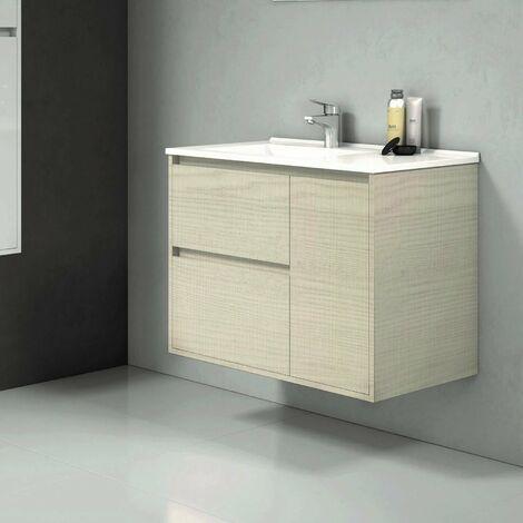 Conjunto TAGUS, Mueble de lavabo 80cm  y espejo