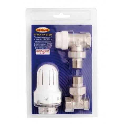 Conjunto termostático, cabezal de válvula de confo