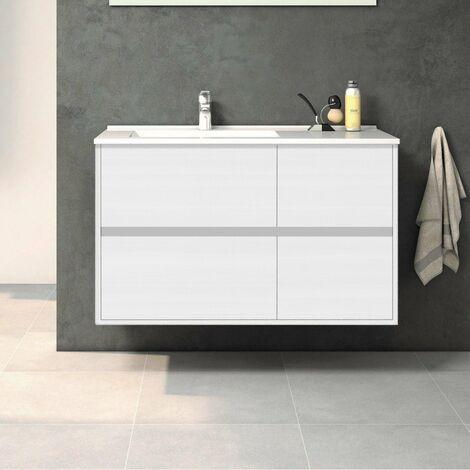 Conjunto TUELA, Mueble de lavabo 100cm y espejo
