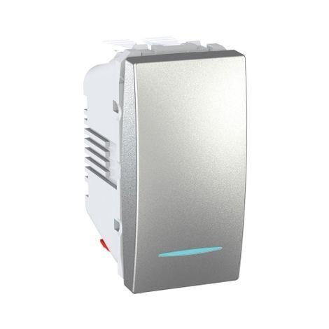 Conmutador 1 mod. LED localizacion Alum SCHNEIDER ELECTRIC MGU3.103.30NL