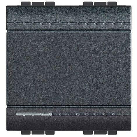 Conmutador 16A ancho antracita Bticino LivingLight L4003M2A