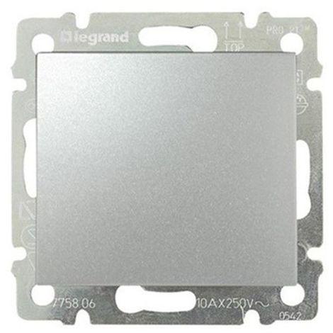 Conmutador Aluminio Brillante Legrand Valena 770106
