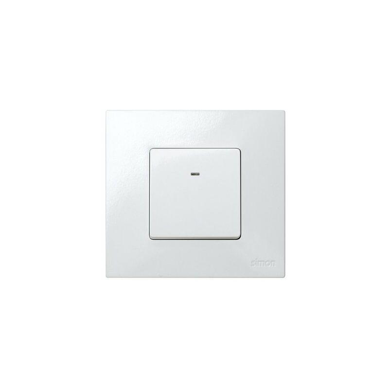 Conmutador ancho con luminoso Simon 27 Play 10 A Blanco